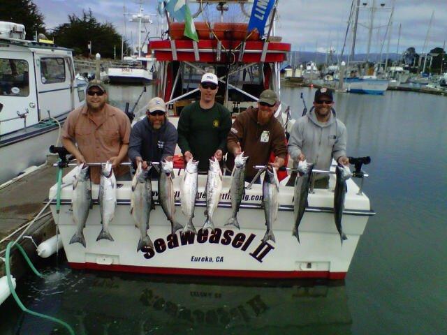 Charter fishing trips in eureka california limits full for Eureka ca fishing